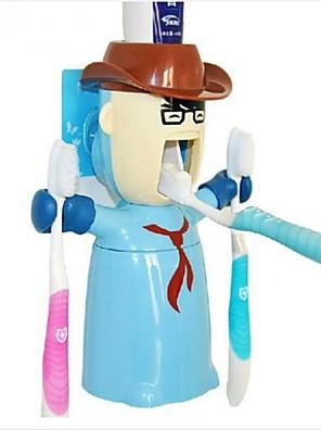 elsker kriger multifunktions squeeze tandpasta tandbørsteholder dispenser, plast sæt 3 stk tilfældig farve