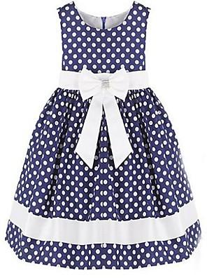 שמלה כותנה אורגנית / אורגנזה קיץ / אביב / סתיו כחול / לבן הילדה של