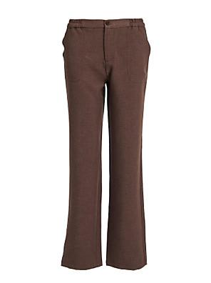 מכנסיים הרוכסן של נשים בצבע חום הבהיר