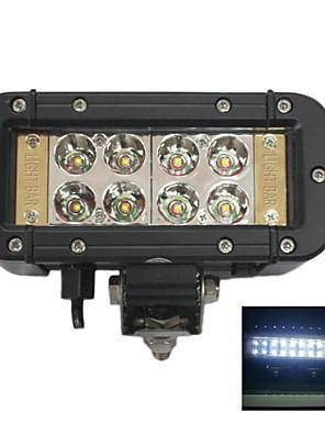 "liancheng® 6 ""24w dubbele rij reflector cree led licht bar voor off-road, UTV, boot"