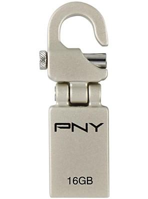 PNY mini haak attaché 16gb usb flash drive metalen stijl