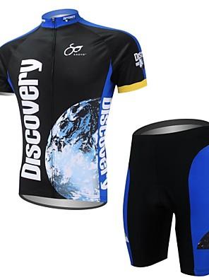 XAOYO® חולצת ג'רסי ומכנס קצר לרכיבה לגברים שרוול קצר אופניים ייבוש מהיר / כיס אחורי מדים בסטים פוליאסטר / 100% פוליאסטרחיה / אנימציה /