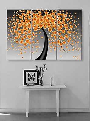 strakte lærred kunst lykke blomster blomstrer abstrakte maleri sæt af 3
