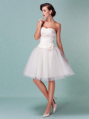 Lanting brud ball kjole petite / plus størrelser brudekjole-kne-lengde kjæreste tyll