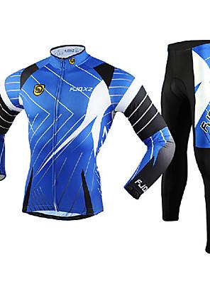 FJQXZ® Calça com Camisa para Ciclismo Homens Manga Comprida MotoRespirável / Mantenha Quente / Secagem Rápida / A Prova de Vento /