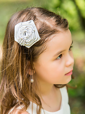 Women's / Flower Girl's Satin Headpiece-Wedding / Special Occasion Flowers