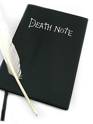 אביזרים נוספים קיבל השראה מ Death Note קוספליי אנימה אביזרי קוספליי אביזרים נוספים שחור נייר / PU עור זכר / נקבה