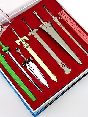 חרב / אביזרים נוספים קיבל השראה מ Sword Art Online קוספליי אנימה אביזרי קוספליי שרשרת מפתחות ירוק / כסף סגסוגת זכר / נקבה