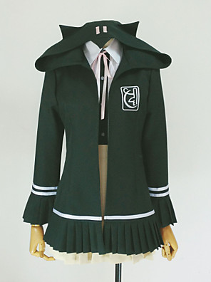 Inspirovaný Dangan Ronpa Chiaki Nanami Video Hra Cosplay kostýmy cosplay Mikiny Jednobarevné Zielony Dlouhé rukávyKabát / Tričko / Sukně