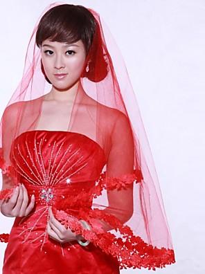 Véus de Noiva Uma Camada Véu Cotovelo / Peça para Cabeça com Véu 59,06 in (150cm) Organza
