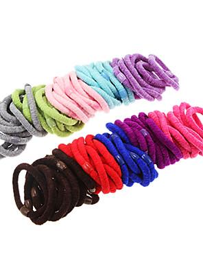 100st multicolor pluizige haarbanden