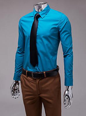 ocean blue slim fit košile s dlouhým rukávem