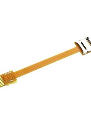 micro sd tf cartão de memória kit masculino para feminino cabo de extensão plana FPC macio extensor de 10 centímetros