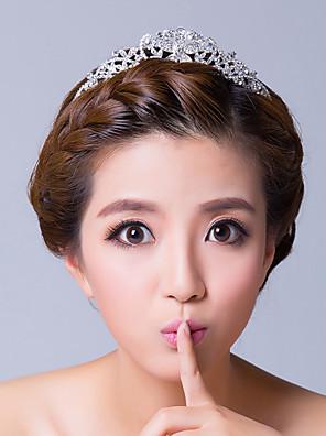 Mujer Diamantes Sintéticos / Aleación Celada-Boda / Ocasión especial Tiaras Claro Flor
