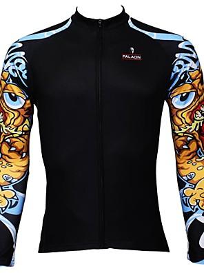 PALADIN® חולצת ג'רסי לרכיבה לגברים שרוול ארוך אופניים נושם / ייבוש מהיר / עמיד אולטרה סגול ג'רזי / צמרות 100% פוליאסטר אופנתיאביב / קיץ /