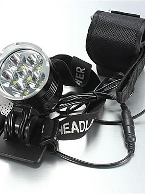 Iluminação Lanternas de Cabeça LED 8400 Lumens 5 Modo Cree XM-L T6 18650.0 Prova-de-Água / RecarregávelCampismo / Escursão /