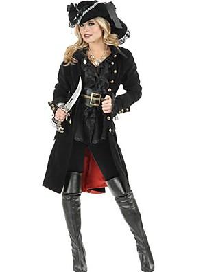 Cosplay Kostýmy / Kostým na Večírek Pirát Festival/Svátek Halloweenské kostýmy Černá Patchwork Kabát / Tričko / Pásek / KloboukHalloween