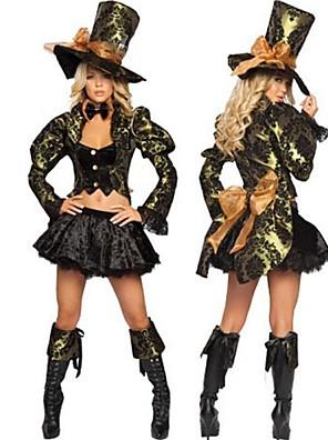 Cosplay Kostýmy / Kostým na Večírek Filmové a TV kostýmy Festival/Svátek Halloweenské kostýmy Černá Jednobarevné Šaty / Klobouk Halloween