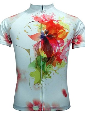 JESOCYCLING® Camisa para Ciclismo Mulheres Manga Curta Moto Respirável / Secagem Rápida Camisa/Fietsshirt / Blusas PoliésterFloral /