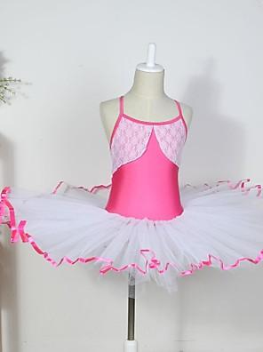 Dětské taneční kostýmy Šaty Dětské Bavlna / elastan / Tyl Bez rukávů CM:110:50,120:53,130:56,140:59,150:61