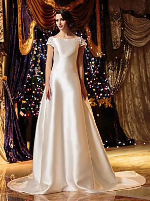 Lanting Bride® A-Linie / Princess Drobná / Nadměrné velikosti Svatební šaty - Klasické & nadčasové / Elegantní & luxusní / Okouzlující &