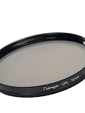 Tianya 72mm CPL kruhový polarizační filtr pro Canon 15-85 18-200 17-50 28 až 135 mm objektivem