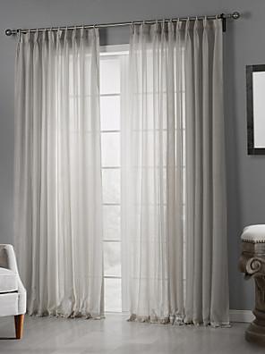 zwei Panele Window Treatment Rustikal , Solide Schlafzimmer Polyester Stoff Gardinen Shades Haus Dekoration For Fenster
