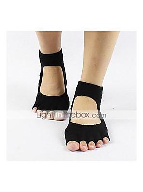 Anti-Rutsch-rücken fünf Finger Yoga-Socken