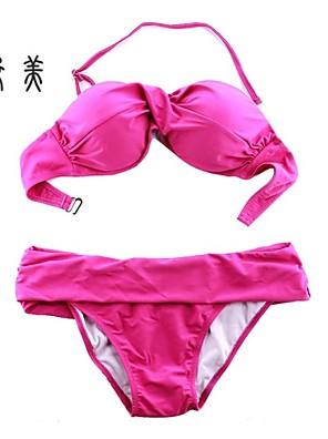 Ženy - Bikini/Tankini ( Nylon/Bio bavlna/Polyester/Bambusové uhlíkové vlákno/Bambusové vlákno/Ledové hedvábí )