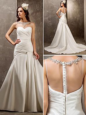 Lanting Bride® Rozevláté Drobná / Nadměrné velikosti Svatební šaty - Elegantní & luxusní / Okouzlující & dramatické Dlouhá vlečka Srdce