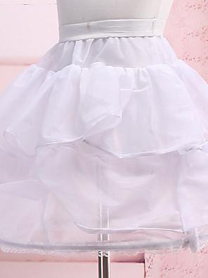 Spodničky Plesový střih Krátká délka 3 Nylon Biały
