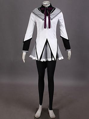 קיבל השראה מ Puella Magi Madoka Magica Homura Akemi וִידֵאוֹ מִשְׂחָק תחפושות קוספליי חליפות קוספליי טלאים לבןעליון / חולצה / חצאית /