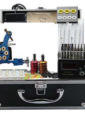 tatovering maskine kit med 4 stål tatovering maskiner og 4 støbejern tatovering maskiner