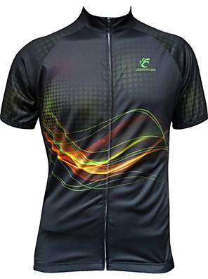 JESOCYCLING® Camisa para Ciclismo Mulheres / Homens Manga Curta MotoRespirável / Secagem Rápida / Resistente Raios Ultravioleta / Zíper