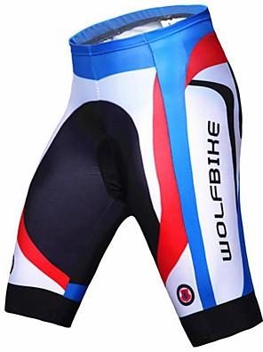 WOLFBIKE® Cyklošortky se sedlem Pánské Prodyšné / Rychleschnoucí / Komprese / 3D Pad Jezdit na koleKalhoty / Spodní prádlo šortky /