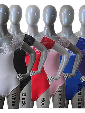Balé Malha Mulheres / Crianças Actuação / Treino Algodão / Renda / Licra 1 Peça Malha Collant As the Size Chart