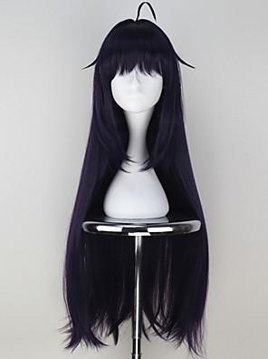 פאות קוספליי Sword Art Online Asuna Yuuki סגול ארוך אנימה פאות קוספליי 85 CM סיבים עמידים לחום נקבה