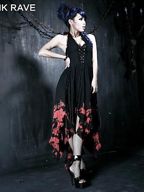 Punk Rave Q-172 Women's Vintage/Sexy/Print Inelastic Sleeveless Asymmetrical Dress (Cotton/Spandex)