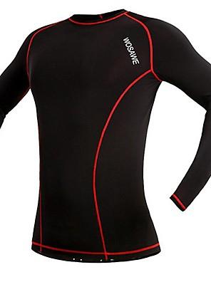 Camisa para Ciclismo Mulheres / Homens / Unissexo Manga Comprida Moto Respirável / Secagem Rápida / CompressãoCamiseta / Pulôver /