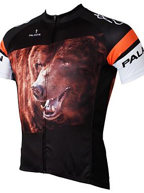 PALADIN® חולצת ג'רסי לרכיבה לגברים שרוול קצר אופנייםנושם / ייבוש מהיר / עמיד אולטרה סגול / דחיסה / חומרים קלים / כיס אחורי / מגביל