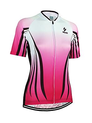 Arsuxeo® Camisa para Ciclismo Mulheres Manga Curta Moto Respirável / Secagem Rápida / Design Anatômico / Zíper FrontalCamisa/Fietsshirt /