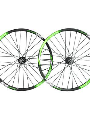 wheelsets הלבן 3k הירוק 29er מותג neasty צבע הצבוע wheelsets האופניים MTB סיבי פחמן מלא