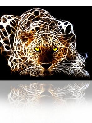 אמנות קיר תמונת בד פנטסטי נמר STAR® החזותי לסלון מוכן לתלות