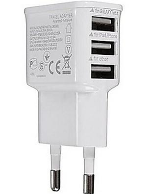 Universal Plug ue 3 portos USB Carregador