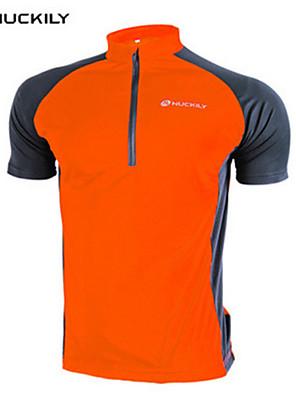 NUCKILY® Camisa para Ciclismo Mulheres / Unissexo Manga Curta MotoImpermeável / Respirável / Secagem Rápida / Permeável á Humidade /