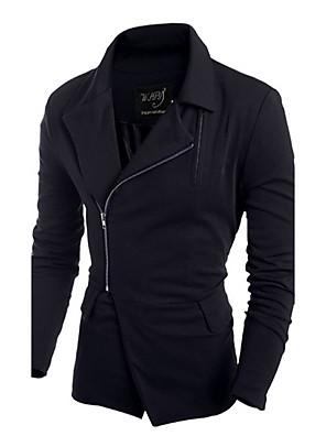 Egyszínű Férfi Kabát,Casual,Egyéb,Hosszú ujjú-Fekete / Piros / Szürke