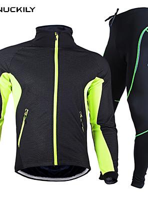 NUCKILY® Cyklo bunda a kalhoty Unisex Dlouhé rukávy Jezdit na koleVoděodolný / Prodyšné / Zahřívací / Rychleschnoucí / Větruvzdorné /