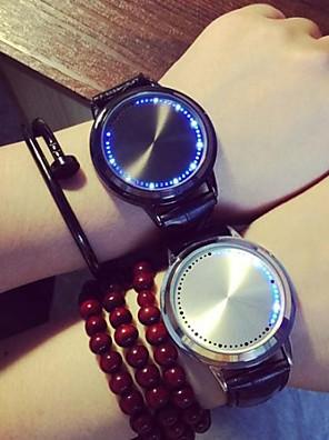 Heren / Dames / Uniseks Modieus horloge Kwarts LED PU Band Zwart Merk-