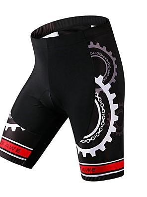 Bermudas Acolchoadas Para Ciclismo Mulheres / Homens / Unissexo Respirável / Secagem Rápida / Compressão / Tapete 4D / Reduz a Irritação