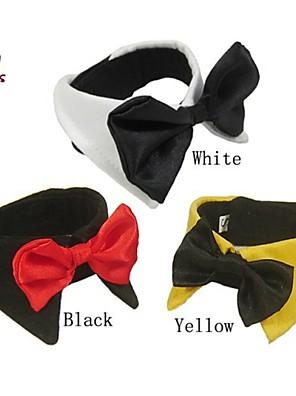 Gatos / Cães Gravata/Gravata Borboleta Amarelo / Preto / Branco Roupas para Cães Primavera/Outono Laço Fofo / Casamento